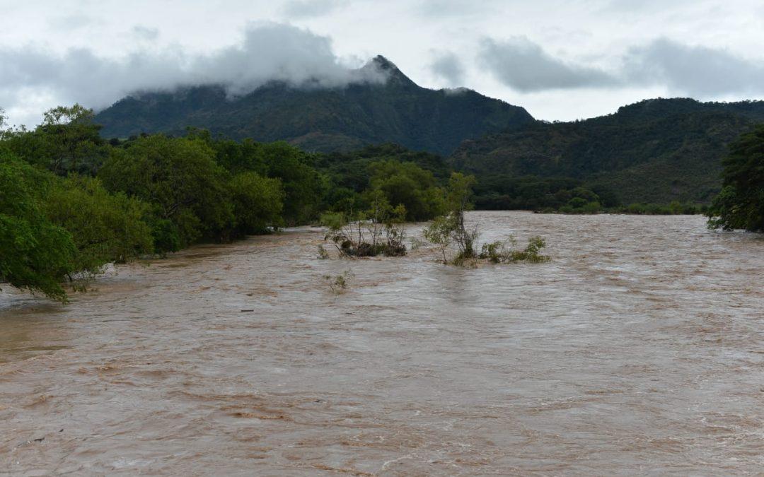 Caudal Rio Lempa por huracan Iota