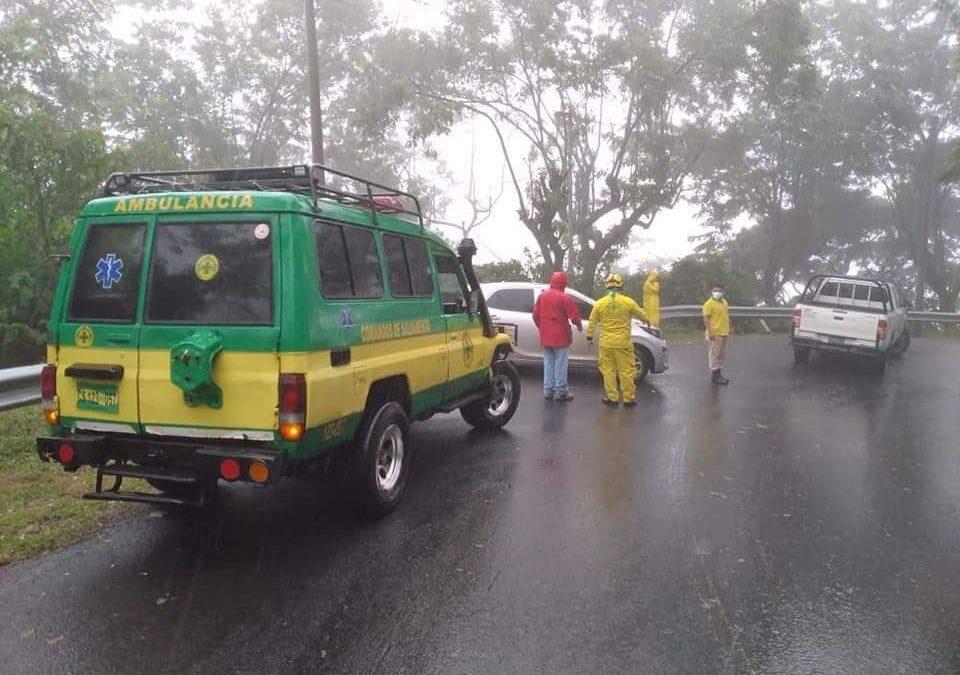 Accidente en carretera  Santiago de María y municipio de Alegría.