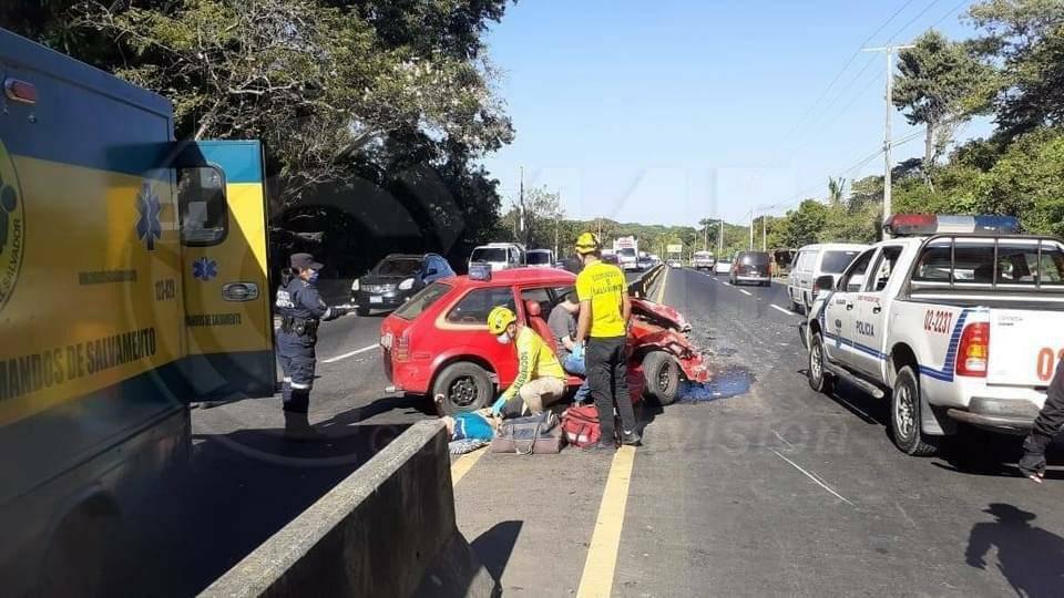Accidente de tránsito en carretera a Santa Ana km 56